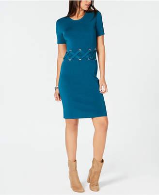 Michael Kors Lace-Up Sweater Dress