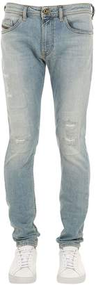 Diesel Thommer Destroyed Cotton Denim Jeans