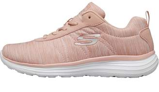 Skechers Womens Low Key Trainers Rose/White