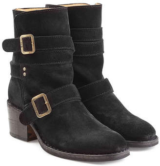 Fiorentini+Baker Buckled Suede Mid Height Boots