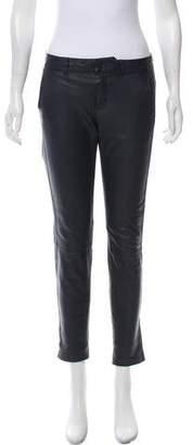Vince Mid-Rise Leather Pants