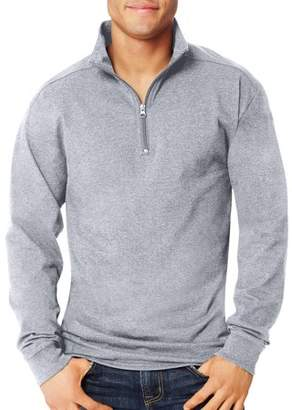 Hanes Big Men's X-Temp 1/4 Zip Long-Sleeve T-Shirt
