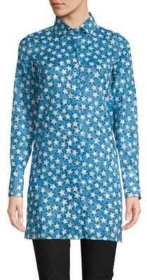 Valentino Printed Cotton Button-Down Shirt