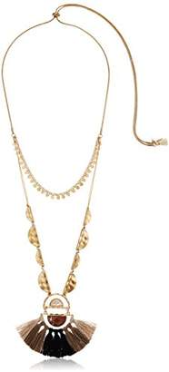 lonna & lilly Worn Gold/ 40 Inch Adjustible Pendant