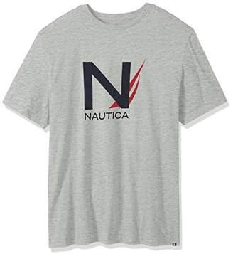 Nautica Men's Big and Tall Short Sleeve Crew Neck Cotton T-Shirt
