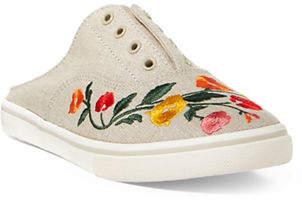 Lauren Ralph Lauren Embroidered Slide Sneakers