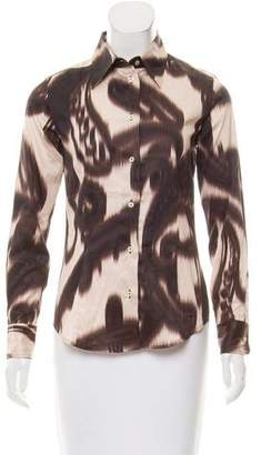 Etro Ikat Print Button-Up Top