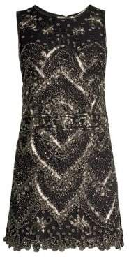 Alice + Olivia Clyde Embellished Mini Dress