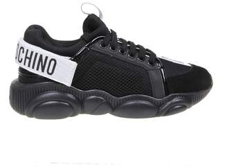 Moschino Sneakers Teddy Run With Strap Color Black