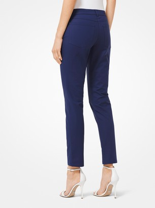 Michael Kors Stretch Cotton-Broadcloth Jeans
