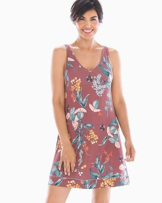 Mulberry Cool Nights V-Neck Sleep Chemise Curio Floral