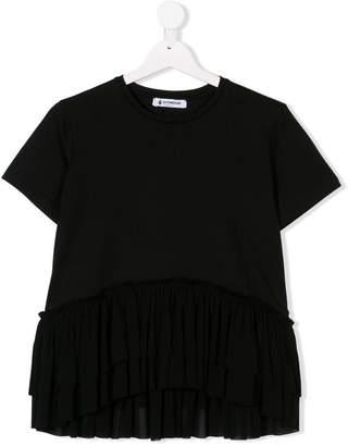 Dondup Kids TEEN tulle ruffle trim T-shirt