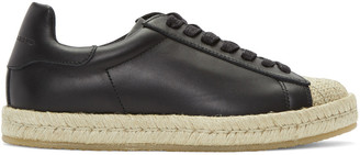 Alexander Wang Black Rian Espadrille Sneakers $425 thestylecure.com