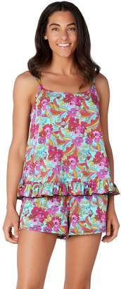 Fit 4 U Ruffle Cami Tankini Swimsuit with Short