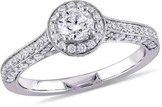MODERN BRIDE Womens 1 CT. T.W. Genuine White Diamond 14K Gold Engagement Ring