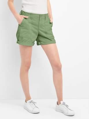 Gap Girlfriend rolled utility shorts