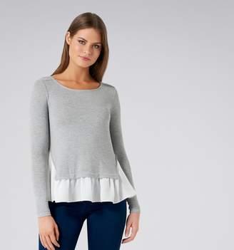 Forever New Olivia Long Sleeve Woven Hem Top