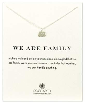 Dogeared Women's 925 Sterling Silver We Are Family Elephant Necklace of 40.64cm