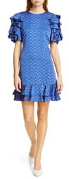 Kate Spade Geo Dot Satin Shift Dress