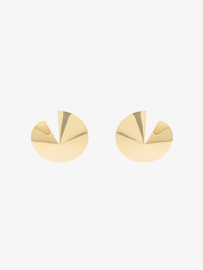 Gaviria Metallic Gold Fortune Cookie Earrings