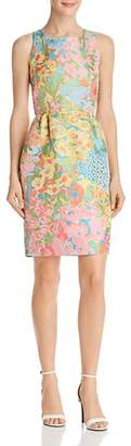 Moschino Floral Jacquard Sheath Dress