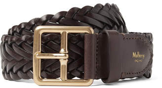 Mulberry 4cm Brown Woven Leather Belt - Brown