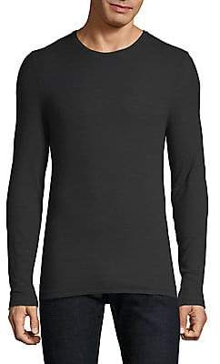 ATM Anthony Thomas Melillo Men's Modal Rib Long Sleeve Top