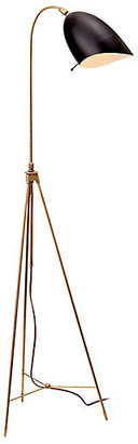 AERIN Sommerard Floor Lamp - Antiqued Brass/Black