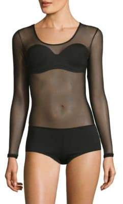 Cosabella Soire Long-Sleeve Thong Back Bodysuit