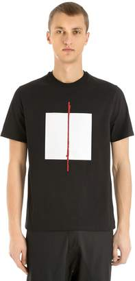 Neil Barrett Loose Fit Cube Print Jersey T-Shirt
