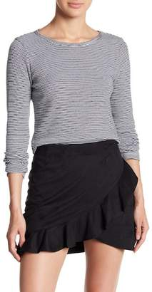 BB Dakota Long Sleeve Striped Keyhole Knit Top