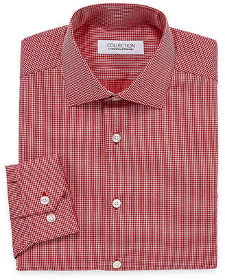 COLLECTION Collection by Michael Strahan Wrinkle Free Cotton Stretch Long Sleeve Woven Grid Dress Shirt