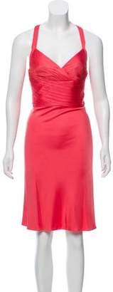 Versace Sleeveless Gathered Dress