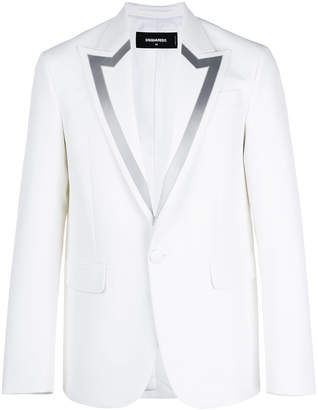 DSQUARED2 contrast-lined fitted blazer