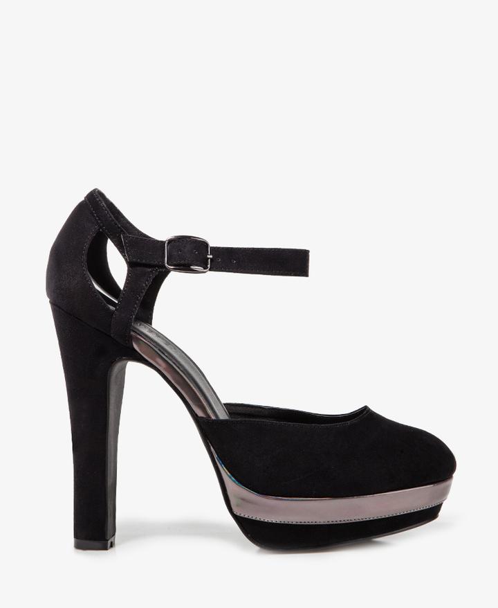 Forever 21 Hologram Trim Wedge Sandals