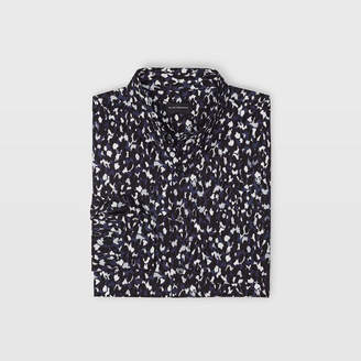 Club Monaco Slim Abstract Cheetah Shirt