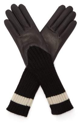 Agnelle Cecilia Leather Gloves - Womens - Black