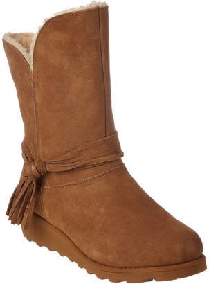 BearPaw Women's Tonya Savvy Slim Tread Wedge Neverwet Suede Boot