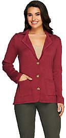 Liz Claiborne New York Cotton Cashmere Blazerw/Elbow Patches