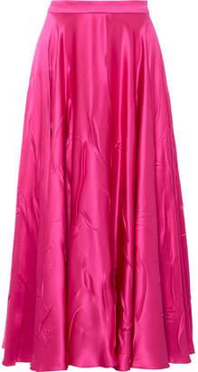 Gucci Silk-blend Satin Midi Skirt - Fuchsia