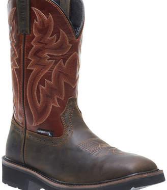 Wolverine Mens Rancher Waterproof Slip Resistant Steel Toe Work Boots Pull-on