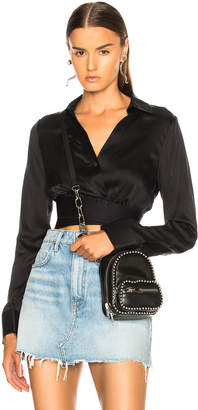 Alexander Wang Silk Crop Shirt