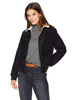 Levi's Women's Faux Leather Sherpa Aviator Bomber Jacket