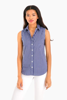 The Shirt by Rochelle Behrens The Exclusive Navy Check Sleeveless Essential Icon Shirt