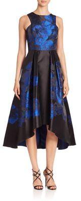 Shoshanna Midnight Coraline Hi-Lo Dress $595 thestylecure.com