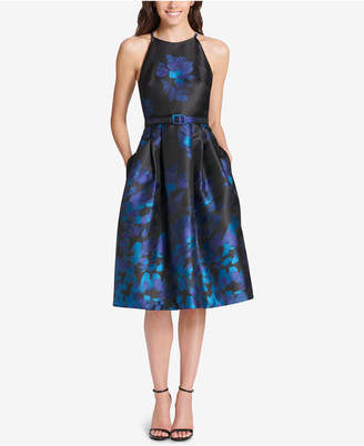 Jessica Howard Belted Fit & Flare Dress