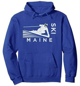 Ski Maine Hoodie - Vintage Snow Ski Sweatshirt