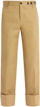 MAISON KITSUNÉ ADER ERROR X Cotton chino trousers