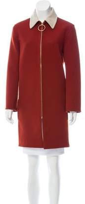 Celine Virgin Wool Knee-Length Coat