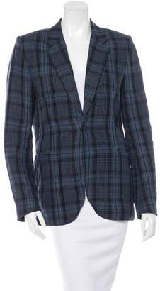 Paul Smith Linen Plaid Blazer $110 thestylecure.com